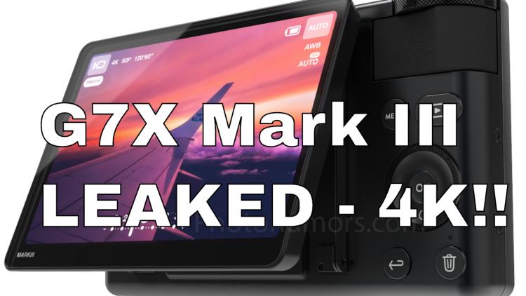 Canon G7X Mark III Leaked Specs